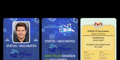 Précieux Covid19 Vaccination Card